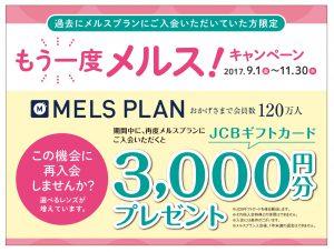 【メルスプラン】再入会キャンペーンのお知らせ(*´꒳`*)