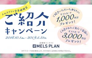 【定額制メルスプラン】会員様限定 ご紹介キャンペーン゜+.